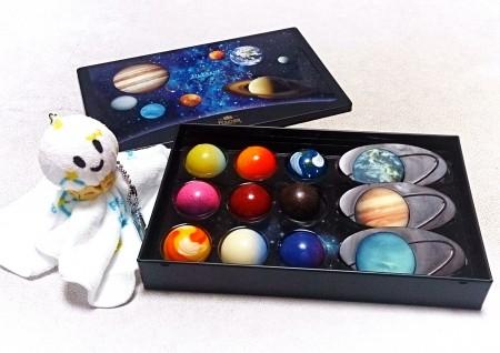 フーシェの太陽系の惑星チョコレート