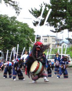 子ども鹿踊り-水沢天文台2